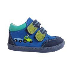 0851ff9b9ade Kék traktoros Szamos első lépés fiú cipő - First step shoes by Szamos -  made in Hungary