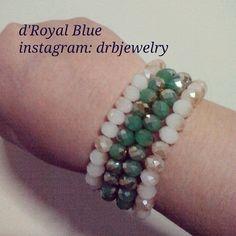 #kristal ceko bisa beli satu set (4 #gelang). Warna boleh pilih mau #hijau atau #cokelat susu semua. Boleh beli satuan. #bracelet #crystals #green #brown #statementbracelet #handmadebracelet