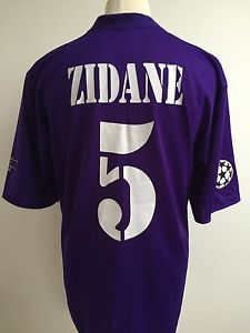 70d18c98dce Details about REAL MADRID 2002 2003 CENTENARY Football Shirt PURPLE 3RD  AWAY  5 ZIDANE Large