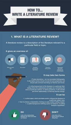 Link to How to write a literature review - opens PDF in new window.