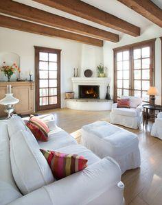 Adobe corner Fireplace