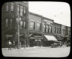 This view of Main Street (Sixth Avenue) is looking south from Park (57th) Street on the east side of the street and was taken in 1930.