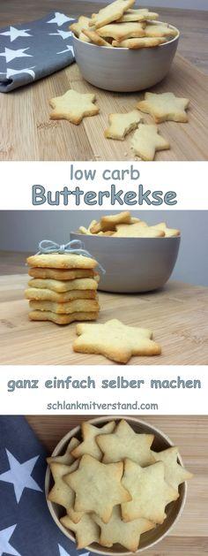 low carb Butterkekse einfach selber machen Bei uns gab es heute wieder leckere Butterkekse. Das Mandelmehl sollte entölt sein. Zutaten für ca. 30 Stück: 100 g Butter, weich 80 g *Mandelmehl, entölt 30 g * Xylit(fein) 1/2 TL * Sonnentor Vanillepulver 1 Prise Salz #abnehmen #lowcarb #Rezept #deutsch #Foodblog #Kekse #Sterne