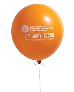 Save the Date | balloon idea