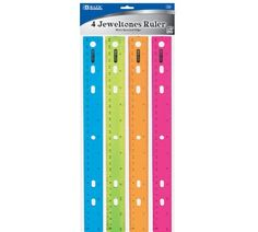 Bazic Jeweltones Color Ruler, 12 Inches, 4 Per Pack, 2015 Amazon Top Rated Rulers & Tape Measures #OfficeProduct