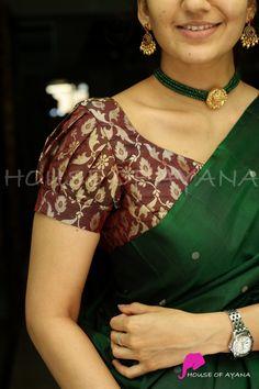 Blouse Designs High Neck, Simple Blouse Designs, Fancy Blouse Designs, Bridal Blouse Designs, Kids Dress Collection, Saree Collection, Half Saree Lehenga, Bridal Lehenga, Pattu Saree Blouse Designs