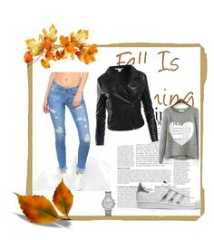 """""""#casual for autumn"""" by jasna91 ❤ liked on Polyvore featuring Sans Souci, adidas Originals, Michael Kors and Anja"""