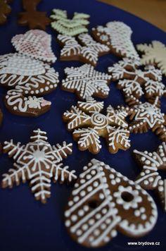 Perníky a perníčky | brydova.cz Meringue Cookies, No Bake Cookies, No Bake Cake, Gingerbread Cookies, Christmas Cookies, Thing 1, Macaroons, Winter Christmas, Ham