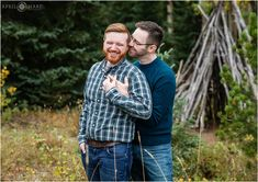 Colorado Fall Color Gay Engagement Photos in a pretty mountain meadow with yellow aspens and blue mountain backdrop on Squaw Pass Road Elegant Engagement Photos, Funny Engagement Photos, Fall Engagement, Engagement Session, Engagement Ideas, Fall Couple Photos, Fall Photos, Couple Pictures, Engagement Photography