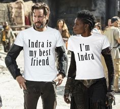 Just Kane and Indra being BFFs || The 100 || Marcus Kane and Indra || Henry Ian Cusick and Adina Porter