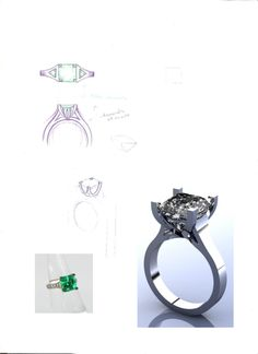 art deco inspired engagement ring
