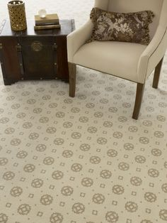 Oh So Lovely! The Simplistic, Geometric Pattern In The Cream And Gold Color  Scheme
