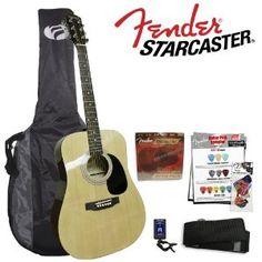 Fender Starcaster Acoustic Natural Guitar Kit --- http://www.amazon.com/Fender-Starcaster-Acoustic-Natural-Guitar/dp/B000VO6DBU/?tag=villagecandle-20