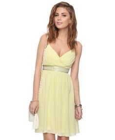 Pleated Beaded Empire Waist Dress | FOREVER21 - 2000042468