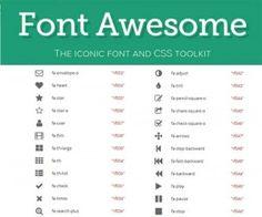 Font Awesomees una fuente web que contiene todos los iconos del Framework BootstrapdeTwitter, y ahora muchos más
