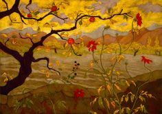 """huariqueje: """" Some Paul Ranson Autumn paintings Appletree and Red Fruit, c.1902 The Clearing 1895 """""""