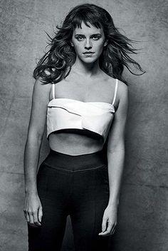 Emma Watson — Emma Watson by Peter Lindbergh for Vogue...