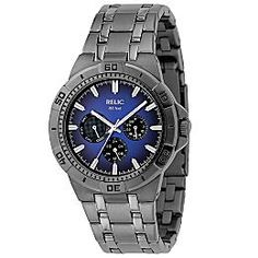 Relic gunmetal blue watch - for Coty