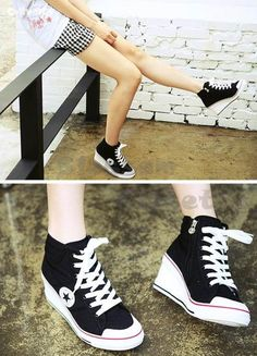 converse heels short. This size is more my speed! I would wear these almost everyday.