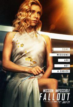 Vanessa Kirby in Mission: Impossible - Fallout Fallout Movie, Fallout Posters, Vanessa Kirby, Ethan Hunt, Mission Impossible Fallout, Simon Pegg, Hindi Movies, Tom Cruise, Movies