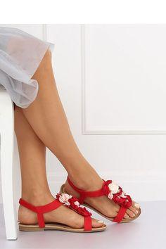 Sandale cu flori textile multicolore