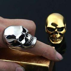 Acier Inoxydable Grim Reaper Crâne Hommes Biker Ring Vintage Gothique Death Angel Band