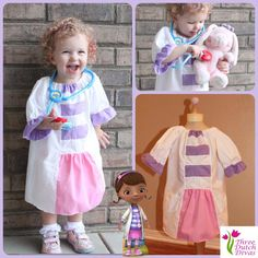 Doc McStuffins Mc stuffins inspired dress up dress 4t - size 8 party. $35.00, via Etsy.