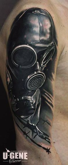 Realistic black and gray Mask tattoo works by U Gene Black And Grey Tattoos Sleeve, Tattoos For Women Half Sleeve, Black Tattoos, Tattoos For Guys, Wörter Tattoos, Word Tattoos, Body Art Tattoos, Sleeve Tattoos, Tattoo Mascara