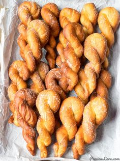 These African doughnuts are soft, pillowy, fluffy on the outside with incredible flavor! Perfect for snacking, breakfast or entertaining. And the twists are such fun shapes. Donut Recipes, Cooking Recipes, Bread Recipes, Biscuits, Doughnuts, Sweet Tooth, Brunch, Sweet Treats, Food And Drink