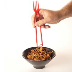 The chork.  Chopsticks and fork in one.