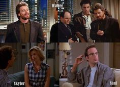Walter White was once a dentist in NYC. Ok not really, but Bryan Cranston, Anna Gunn, and Bob Odenkirk all appeared on Seinfeld.
