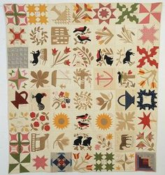 Stella Rubin Antique Quilts and Decorative Arts Textiles, Textile Patterns, Textile Art, Quilt Patterns, Quilts Vintage, Antique Quilts, Sampler Quilts, Crochet Quilt, Patch Quilt