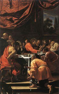 Vouet, Simon (1590-1649) - 1615-20 The Last Supper (Palazzo Apostolico, Loreto, Italy) by RasMarley, via Flickr