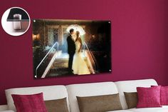 Personalised Acrylic Glass Canvas