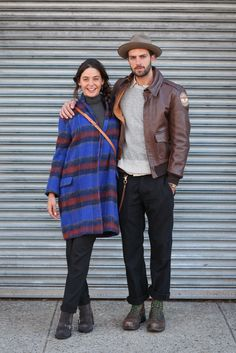 "Who: Maisa and RafaelWhat She's Wearing: Elie Tahari shirt and a Free People jacket.What He's Wearing: Akubra hat, vintage jacket, Rising Sun pants, and a Liberty Art Brothers chain.How do you two know each other?Maisa: ""We've been dating for three months. Today is our anniversary! We met at the New York club Up"