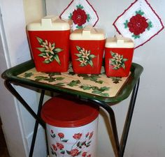 Love the old Red Canisters