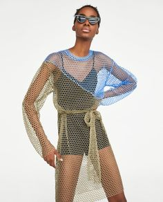 Image 2 of TWO-TONE MESH TUNIC from Zara