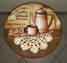 Bandeja giratoria Decoupage Vintage, Decoupage Paper, Painting Accessories, Decoupage Tutorial, Country Paintings, Painted Wood Signs, Recycled Pallets, Pallet Art, Vintage Wood