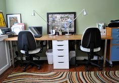 IKEA Hackers: Butcher Block = Perfect Double Desk