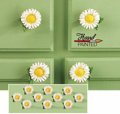 Charmant 10 Daisy Kitchen Drawer Pulls Country Kitchen Decor | EBay