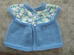 Very easy newborn baby top. Very easy newborn baby top. Knitting For Charity, Easy Knitting, Baby Cardigan Knitting Pattern, Baby Knitting Patterns, Free Baby Blanket Patterns, Baby Patterns, Ravelry, Baby Girl Tops, Knit Baby Sweaters