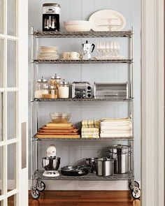 Add Sleek Shine To Your Kitchen With Stainless Steel Shelves - How to add a pantry to your kitchen