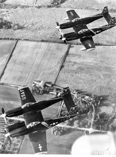 North American F-82F Twin Mustang's of the 52d Fighter Group