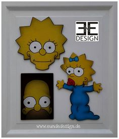 """THE SIMPSONS"" styrofaom fanart by E&E DESIGN GbR, 54292 Trier www.eundedesign.com www.facebook.com/eundedesign www.instagram.com/eundedesign #styrofoam #fanart #thesimpsons #meggie #lisa #eundedesign"