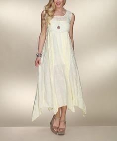 7f7804bcc Love this Natural Swirl Handkerchief Midi Dress - Plus on  zulily!   zulilyfinds Cool