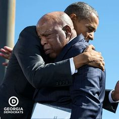 John Lewis (D-Ga.) after his introduction during the event to commemorate the anniversary of Bloody Sunday and the Selma to Montgomery civil rights marches at the Edmund Pettus Bridge in Selma, Alabama, on March 2015 Barack Obama, Malia Obama, Michelle Obama, Joe Biden, Durham, John Lewis, Presidente Obama, First Ladies, I Am Statements