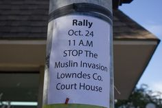 Protest and Counter Protest Valdosta 10-24-2015.