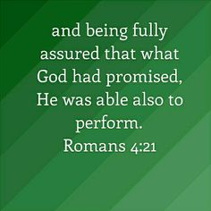 Romans 4:21