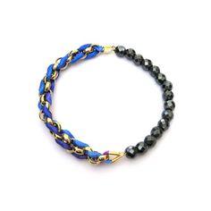 Blue Mix - Hematite Facets Bracelet by YUEN London