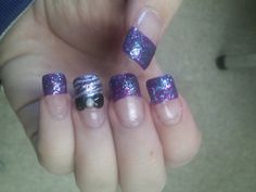 Purple with a bow and zebra